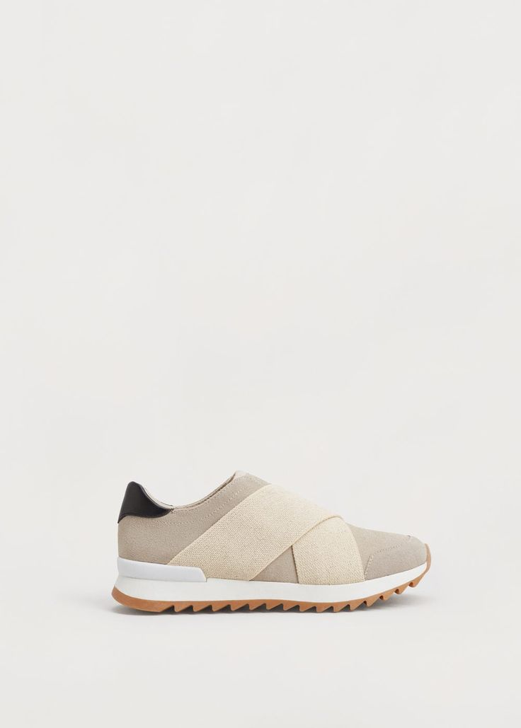 Кожаные кроссовки без шнурков