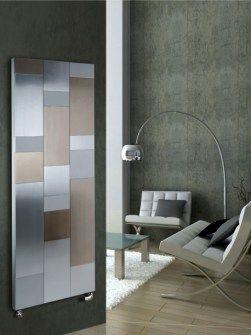 aluminium designer radiators, vertical aluminium radiators, gold radiators,