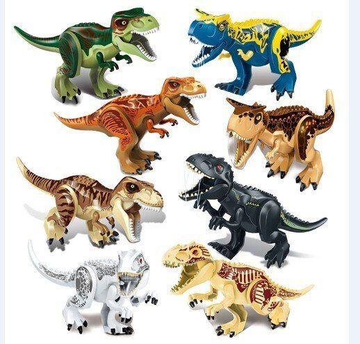 10pcs Dinosaur World Tyrannosaurus Mini Dinosaurs Building Blocks Figures Toys
