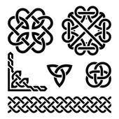 Padrões, tranças e nós celtas irlandeses — Ilustração de Stock #85467126