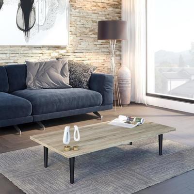 FINLANDEK Table basse ELOIS scandinave laminé décor chêne clair - Pieds bois massif - L 120 x l 60 cm - Achat / Vente table basse ELOIS Table basse chêne - Cdiscount