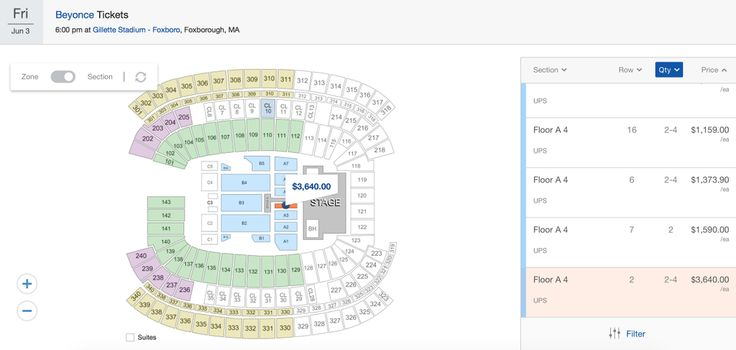 Beyoncé The Formation World Tour Ticket Prices