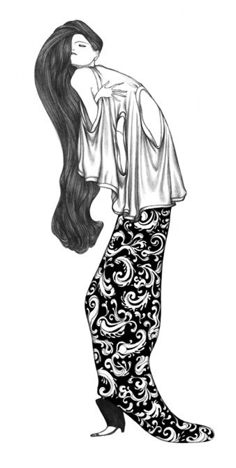 OPTIONS - illustration by Laura Laine. By the way; this drawing reminds me of some of Gustav Klimts work, so beautiful!