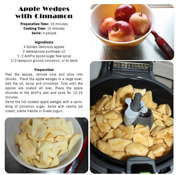 """""""Actifry"""" Apple wedges with Cinnamon"""