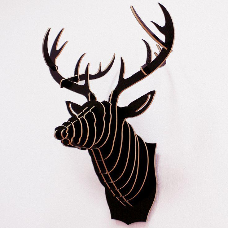 Декоративная голова оленя Black Deer. Настенный декор. Аусхаус — Хранение. Интерьер. Аксессуары