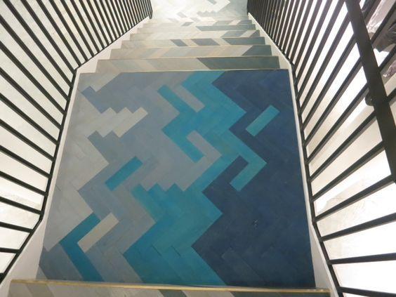 Stella McCartney Soho store staircase.:
