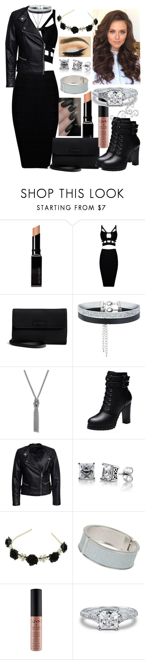 """""""Pree Day: The Black Edition"""" by thea-bleasdille ❤ liked on Polyvore featuring Witchery, Vera Bradley, New Look, BCBGeneration, Sisters Point, BERRICLE, Dorothy Perkins, NYX, grenada and 3rdAug"""