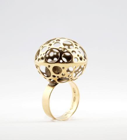 "1960s Liisa Vitali 14k Gold ""Ladybird"" Ring"