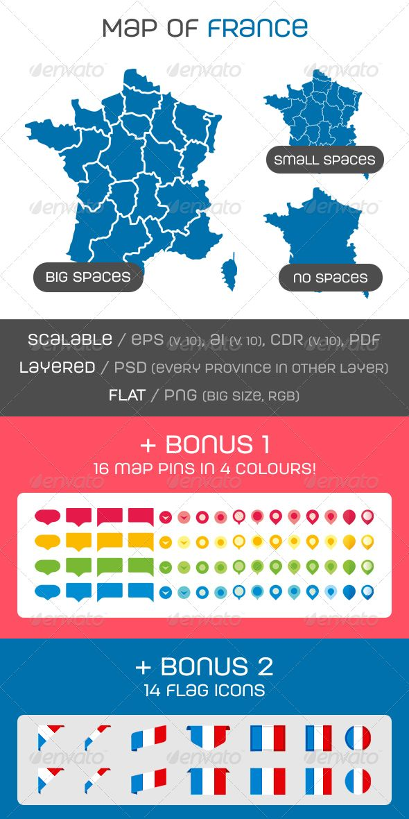 Map of France - Miscellaneous Conceptual