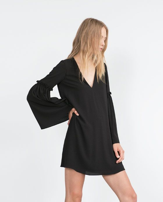 Image 1 of BELL SLEEVE DRESS from Zara