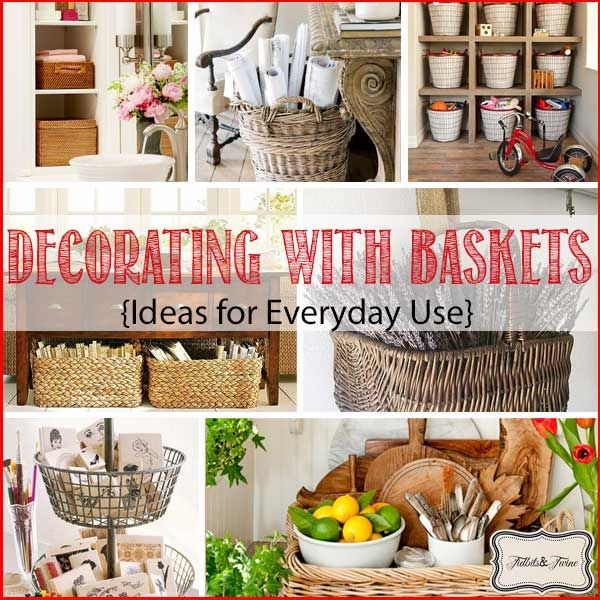 Small Kitchen Gift Ideas: 17 Best Ideas About Basket Decoration On Pinterest