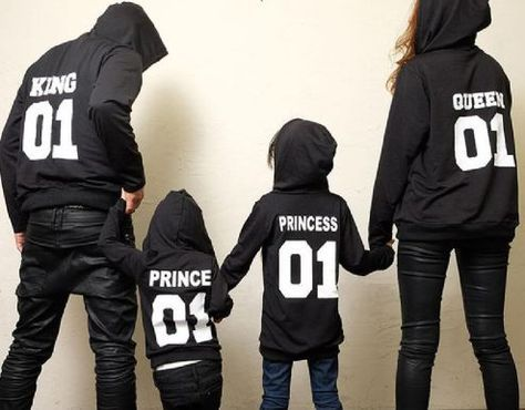 Family Matching Outfits 01 Queen King Princess Prince