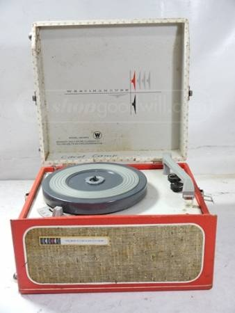 Old Fashioned Record Player - used to pack it up with my 45s and take it to my friends houses for sleepovers!