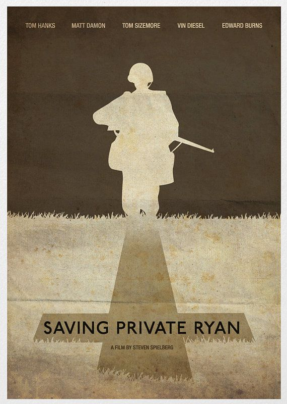 Saving Private Ryan Movie Poster A3 by Posterinspired on Etsy