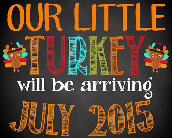 17 best baby announcement images on Pinterest Thanksgiving baby