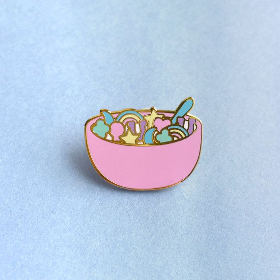 Lucky Charms Enamel Lapel Pin by KristinCarder on Etsy