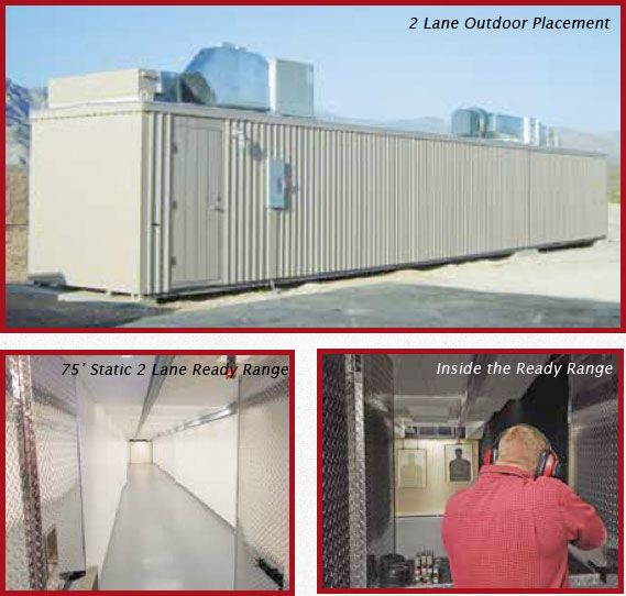 Comes with shooting stalls, target retrieval systems, bullet traps, lighting and HVAC systems. Zero contamination for the outside world. Meets environmental and safety regulations.