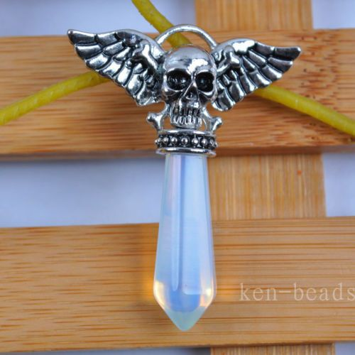 Opal-Bead-Skull-Pendant-Jewelry-S1183