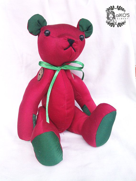 handmade teddy bear by aikoscloset on Etsy