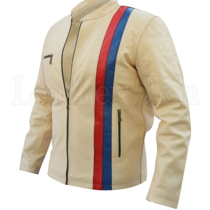White Red Blue Biker Leather Jacket  #fashion #swag #style #stylish #socialenvy #PleaseForgiveMe #me #swagger #photooftheday #jacket #hair #pants #shirt #handsome #cool #polo #swagg #guy #boy #boys #man #model #tshirt #shoes #sneakers #styles #jeans #fresh #dope