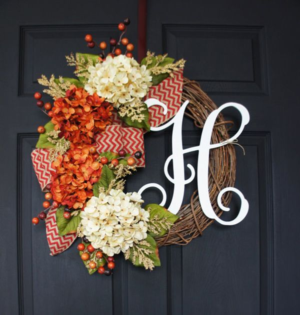 Absolutely+Beautiful+Things | ... Wreath Dreams on Etsy . The hydrangea are just beautiful for fall
