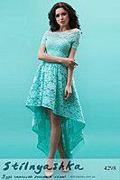 Вечернее платье Каскад ментол 4298