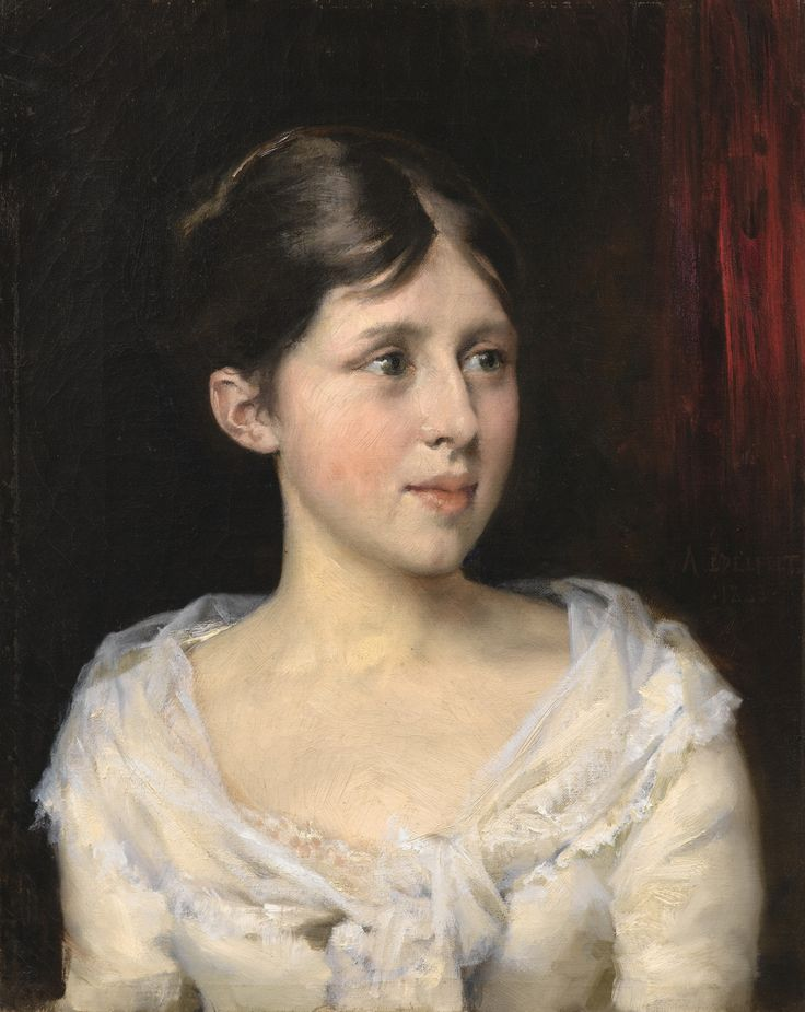 edelfelt, albert girl in a whit ||| portrait ||| sotheby's l17101lot9fy27en