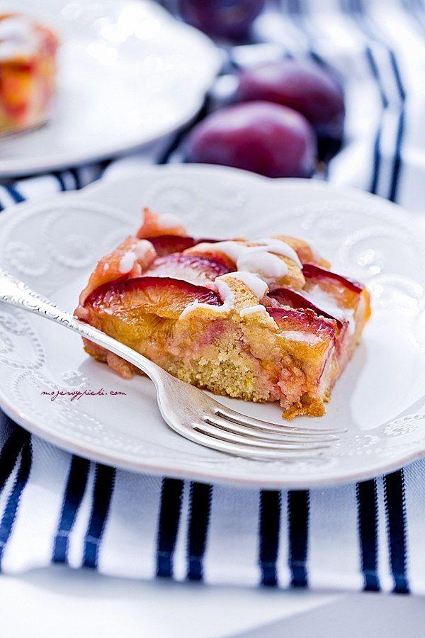 Moje Wypieki | Ciasto ze śliwkami i cynamonem