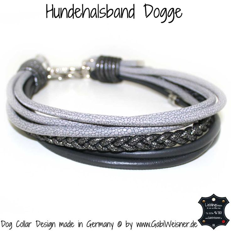 Hundehalsband Leder Mix mit 7 Reihen