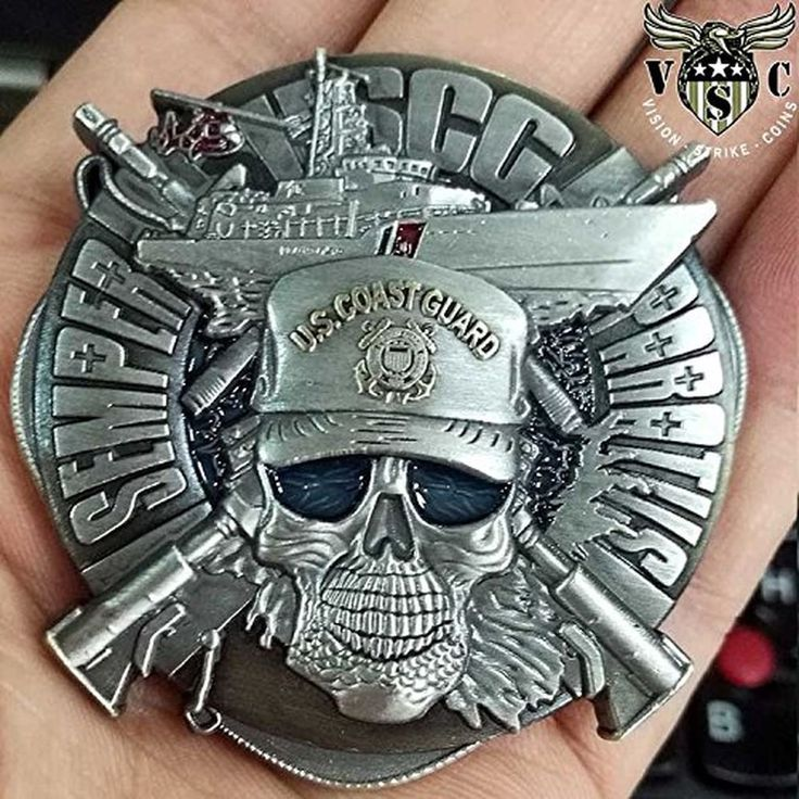 US Coast Cutter Semper Paratus Military Challenge Coin Double Sided 2 Inch