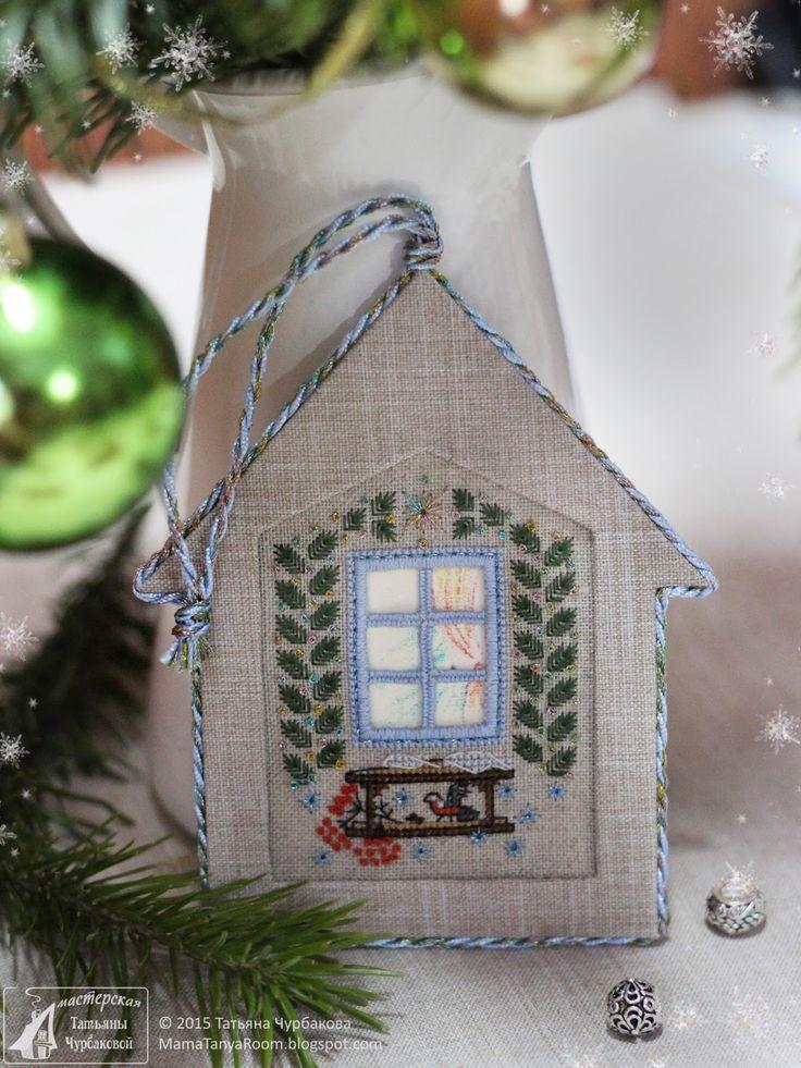 Рождественский домик с кормушкой