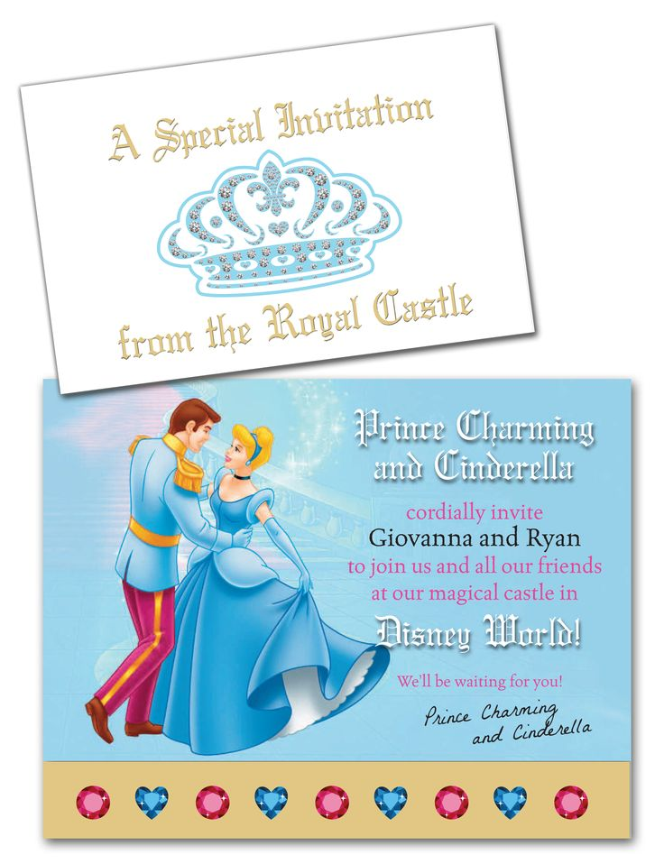 Designed an invitation from Cinderella and the Royal Castle, for an early-morning reveal of our surprise trip to Disney World....