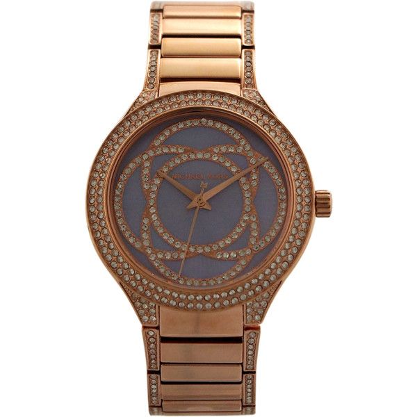 Michael Kors Mk3482 Kerry Crystal Accent Rose Gold-Tone Stainless... ($185) ❤ liked on Polyvore featuring men's fashion, men's jewelry, men's watches, gold, watches, men's blue dial watches, mens stainless steel watches, michael kors mens watches and mens analog watches