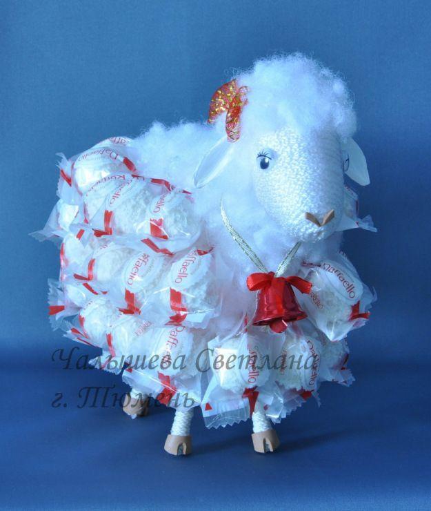 Idea: make a bigger one and put cotton candy for Eid فكرة لعيد الاضحى: يصنع منه حجم اكبر ويضع حلوى غزل البنات بدل الصوف للاطفال