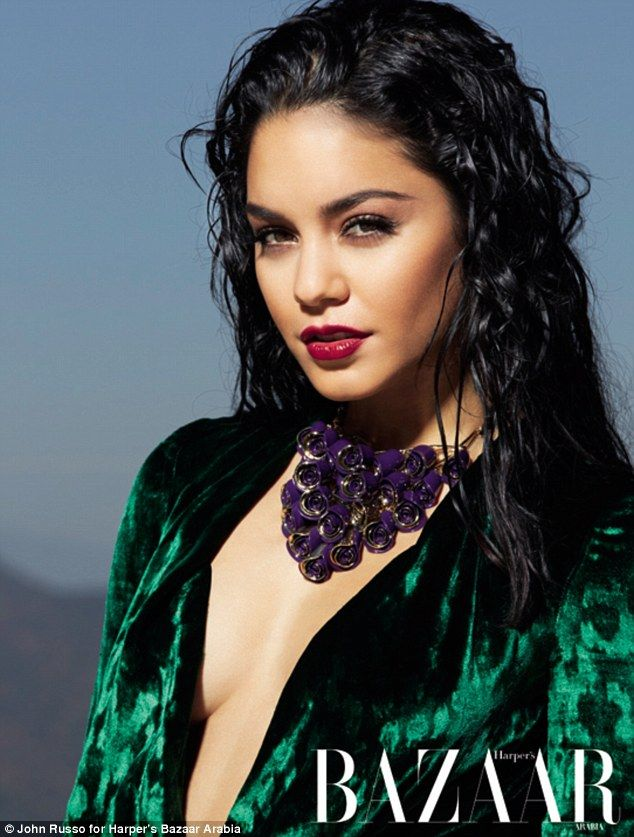 Vanessa Hudgens sizzles as she poses in a sexy high-fashion shoot for Harper's Bazaar Arabia | Mail Online