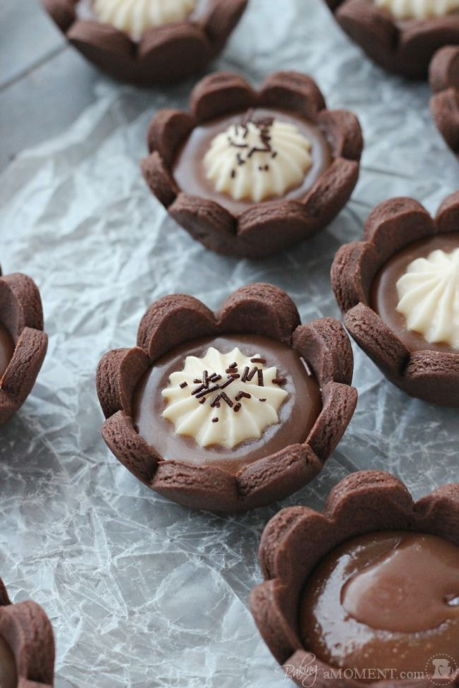 Chocolate Caramel Cheesecake Tartlets | Baking a Moment: Chocolates ...