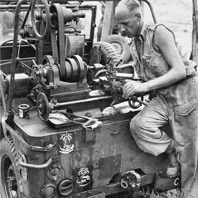 """awfriend: """"#veterensday #toolanddiemaker #machinist #lathe #jeep """""""