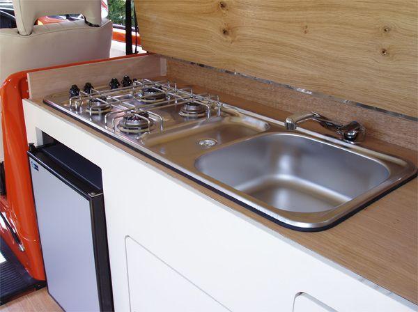 16 best images about vw camper vans on pinterest for Camper van kitchen units