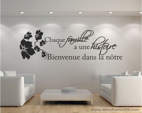 Sticker Citation histoire de famille | Stickers Citations | Decofrance59