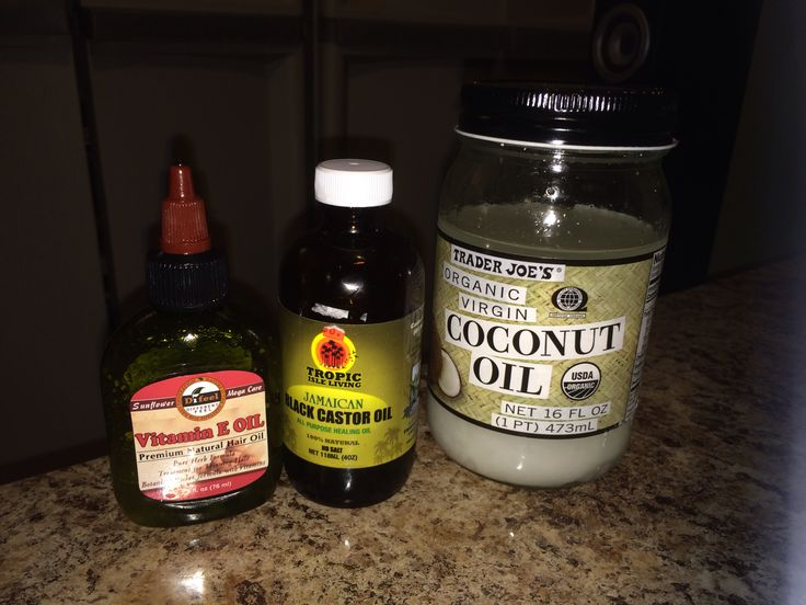 Great for Growing Thick Hair! Mix  2 tablespoons of Coconut Oil 2 tablespoons of Black Jamaican Castor Oil 1 tablespoon of Vitamin E Oil Pour mixture into a small bottle (like the ones that come with box hair dye) Apply directly to scalp & massage it in  Leave it for at least 30 mins if your going to use heat (under a dryer or a shower cap & hair blower) or at least an hr with no heat. I do it overnight. Do this at least 2-3 per week. You should see results within the first 4-6 weeks.