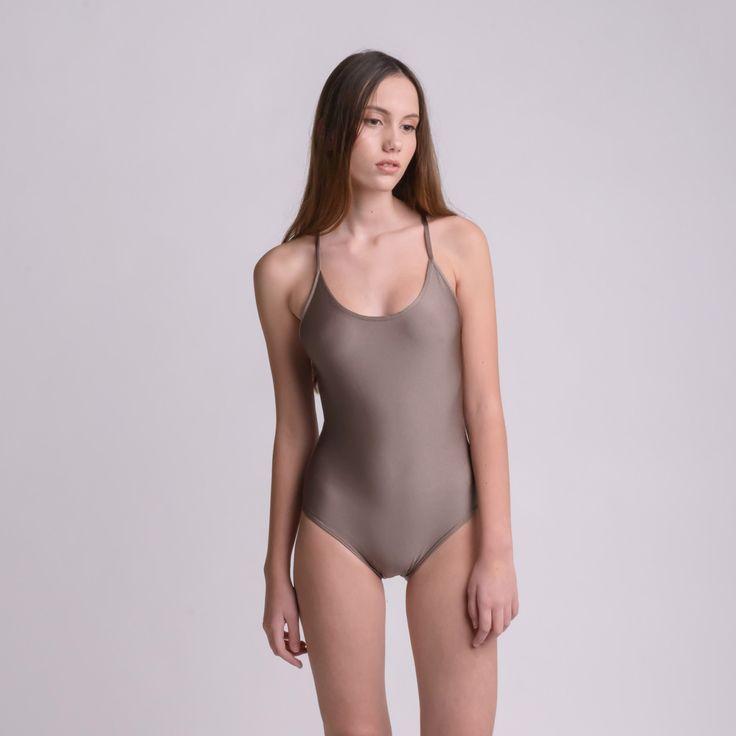 DROP METAL BROWN bodysuit by bodysuits on Etsy