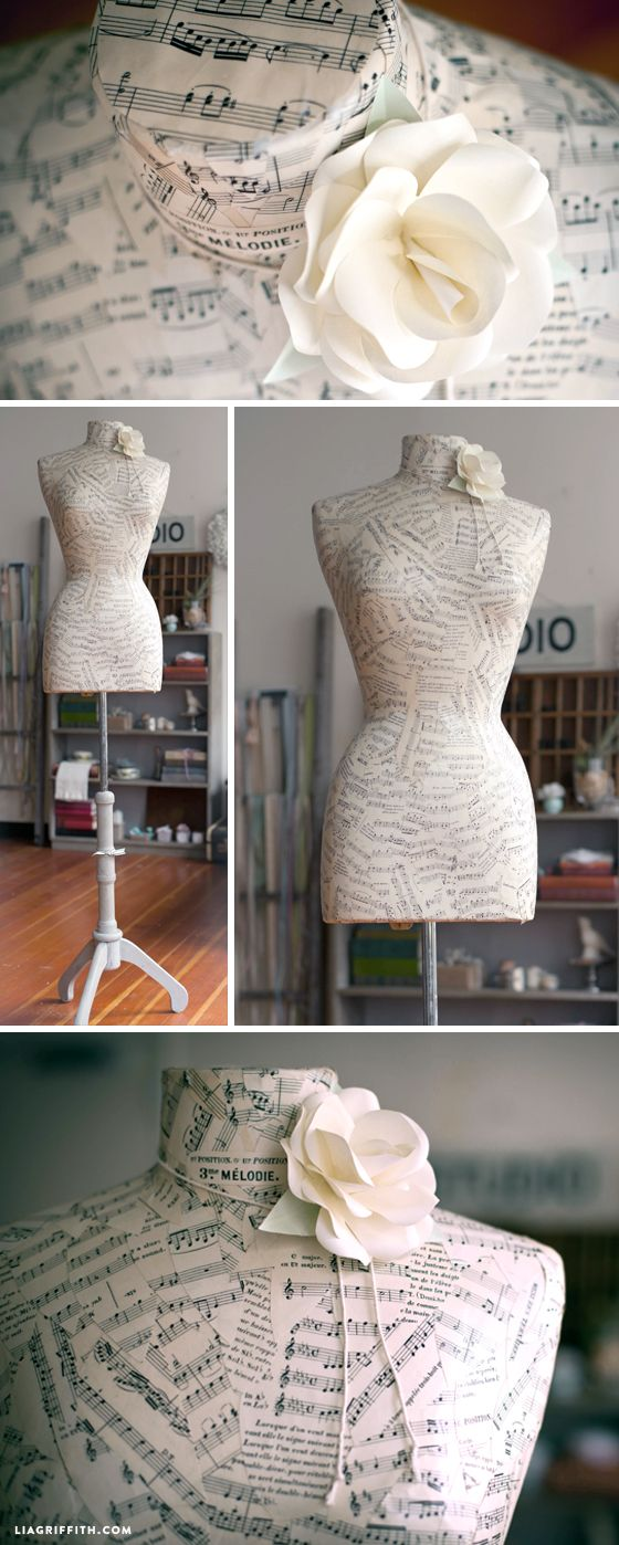 Refinish a Mannequin with Sheet Music – Alida Aucamp