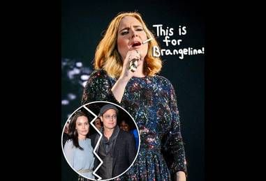 Adele Dedicates NYC Concert To Brangelina Following The Couple's Divorce News — Says It's 'The End Of An Era'!