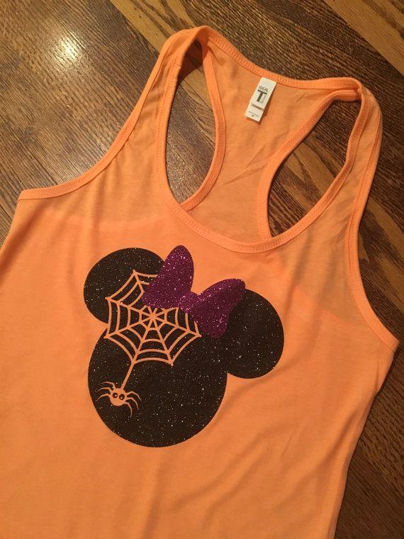 Minnie Mouse Halloween Tank Womens Disney Tank by sammybowtique
