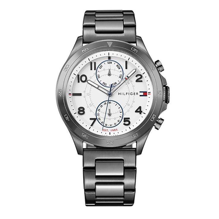 Γυναικείο ρολόι TOMMY HILFIGER 1791341 Hudson με ημερομηνία, ημέρα, 24ωρη, ασημί καντράν & ατσάλινο μπρασελέ | Ρολόγια TOMMY HILFIGER ΤΣΑΛΔΑΡΗΣ στο Χαλάνδρι #tommyhilfiger #hudson #μπρασελε
