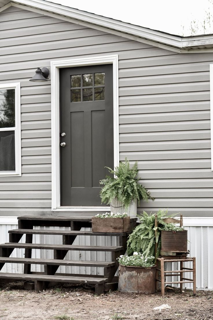 Mobile Home Spring Porch Manufactured Home Remodel Mobile Home