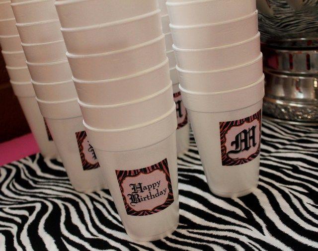 "Photo 1 of 29: Hot Pink with Zebra Print / Birthday ""Zebra Chic Dance Party""   Catch My Party"