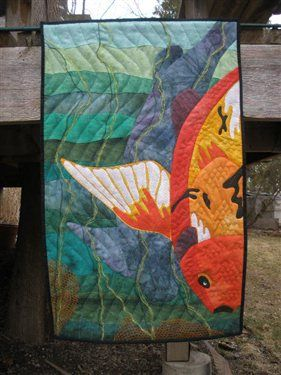 480 best Fish & Water Quilts images on Pinterest | Textile art ... : quilting daily - Adamdwight.com