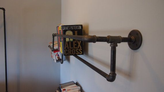 industrial pipe bookshelf by witusik2000 on Etsy