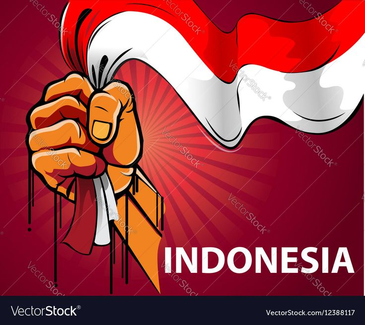 Vector illustration, hand holding a red and white Indonesian flag. Download a Free Preview or High Quality Adobe Illustrator Ai, EPS, PDF and High Resolution JPEG versions.